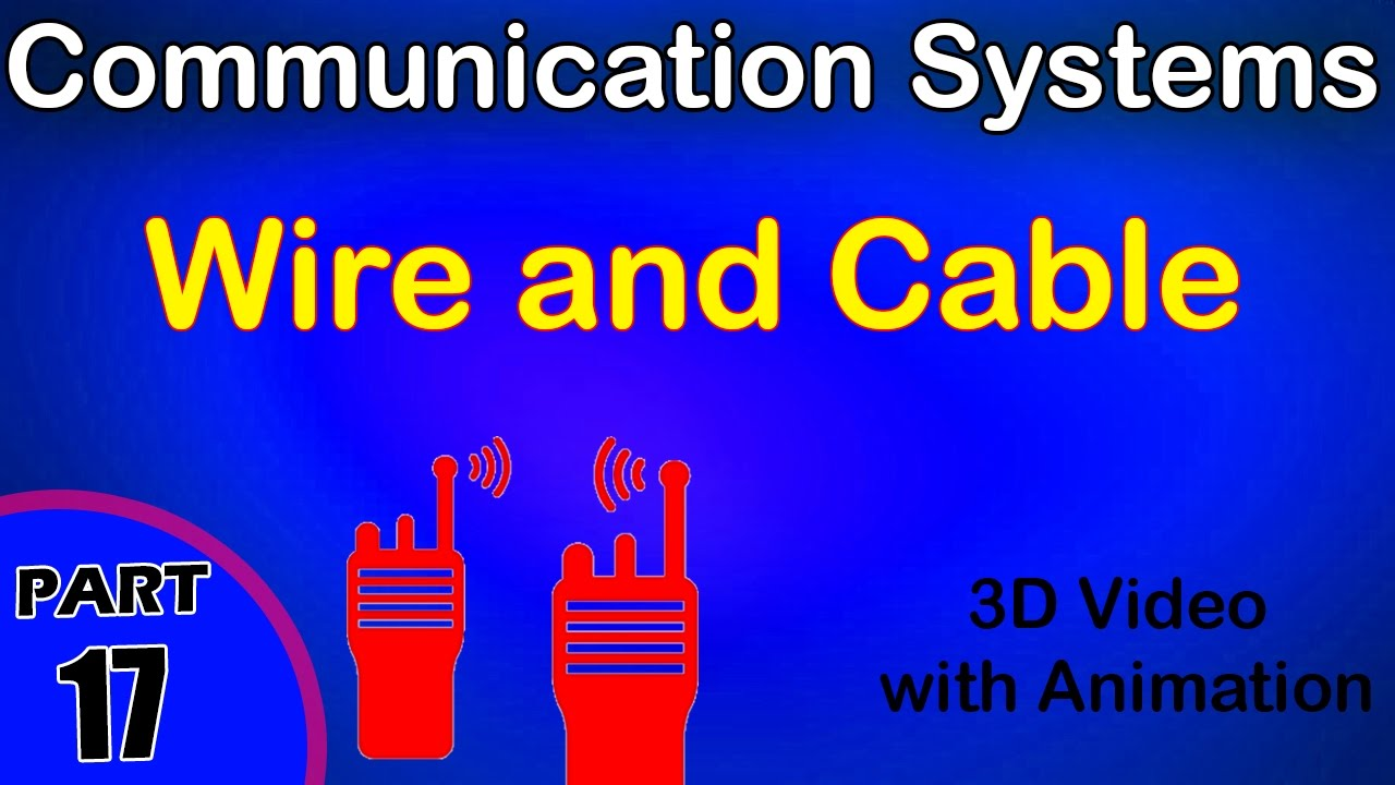 Wire and Cable | Communication System | class 12 physics subject ...