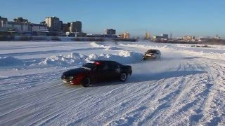 Автодром на льду оз. Алебашево