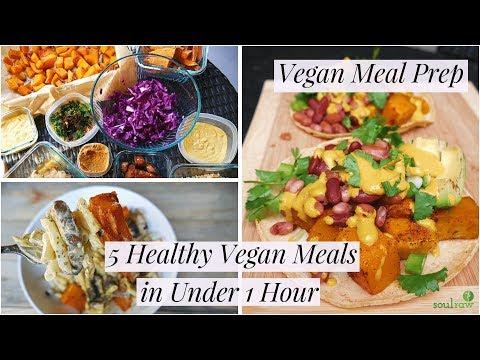 Vegan Meal Prep: 5 Healthy Vegan Meals in Under 1 Hour