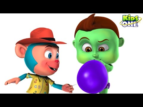 Thumbnail: BABY HULK Blowing Giant BALLOONS and Learn COLORS | Bastard Mr Monkey Blast Ballons for Kids