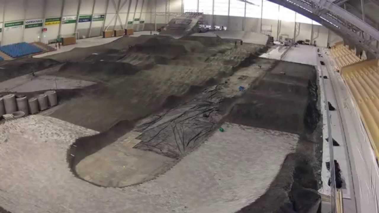 uci bmx supercross 2012 randaberg track build timelapse youtube