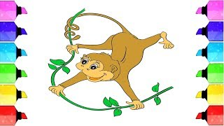 How to draw a monkey | Step by Step tutorial | Drawing Extra
