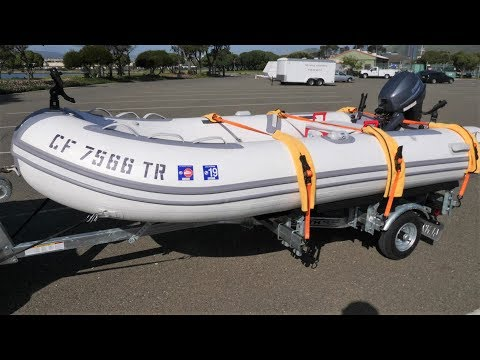 🤢 I PUKED My Guts Out Fishing in This Thing! 🤮 + How I Built the Trailer for my Inflatable Boat