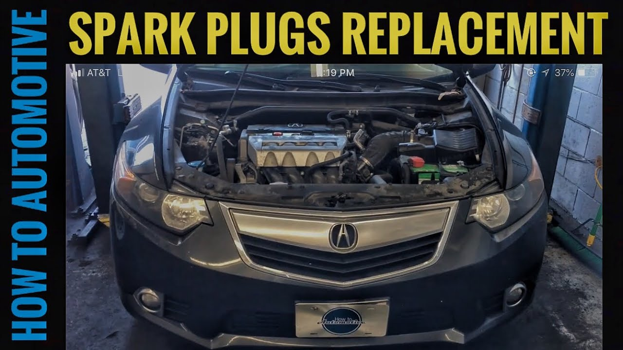 how to replace the spark plugs on a 2009 2014 acura tsx. Black Bedroom Furniture Sets. Home Design Ideas