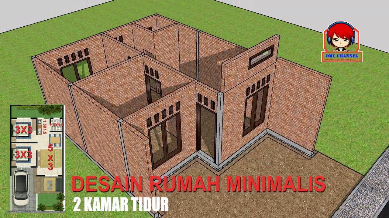 DESAIN RUMAH MINIMALIS UKURAN 6X12 #MINIMALIS #6X12 # ...