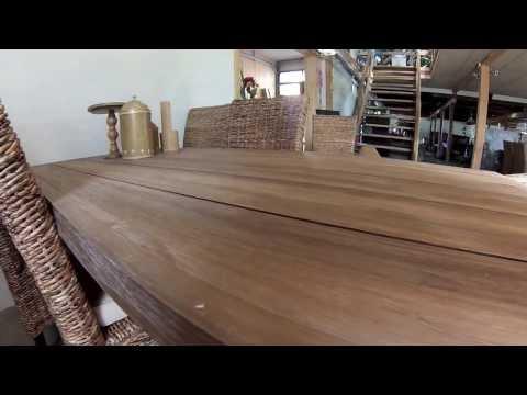Spisebord teaktræ / rustikt (krosy)   youtube