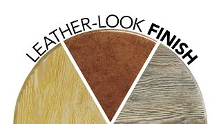 Leather-look Wood Finish