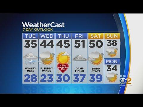 New York Weather: CBS2 2/11 Nightly Forecast – New York Alerts