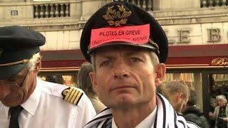 Air France: les pilotes dans la rue au 9e jour de grève