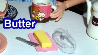How to make a miniature doll butter - miniature crafts *EASY* DIY