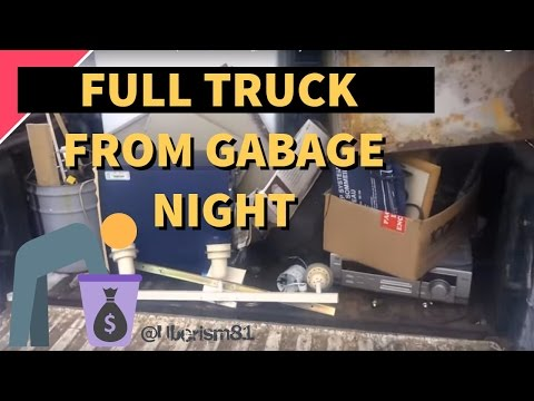 Garbage picking night in town for scrap metal, reselling, and ebay sales.