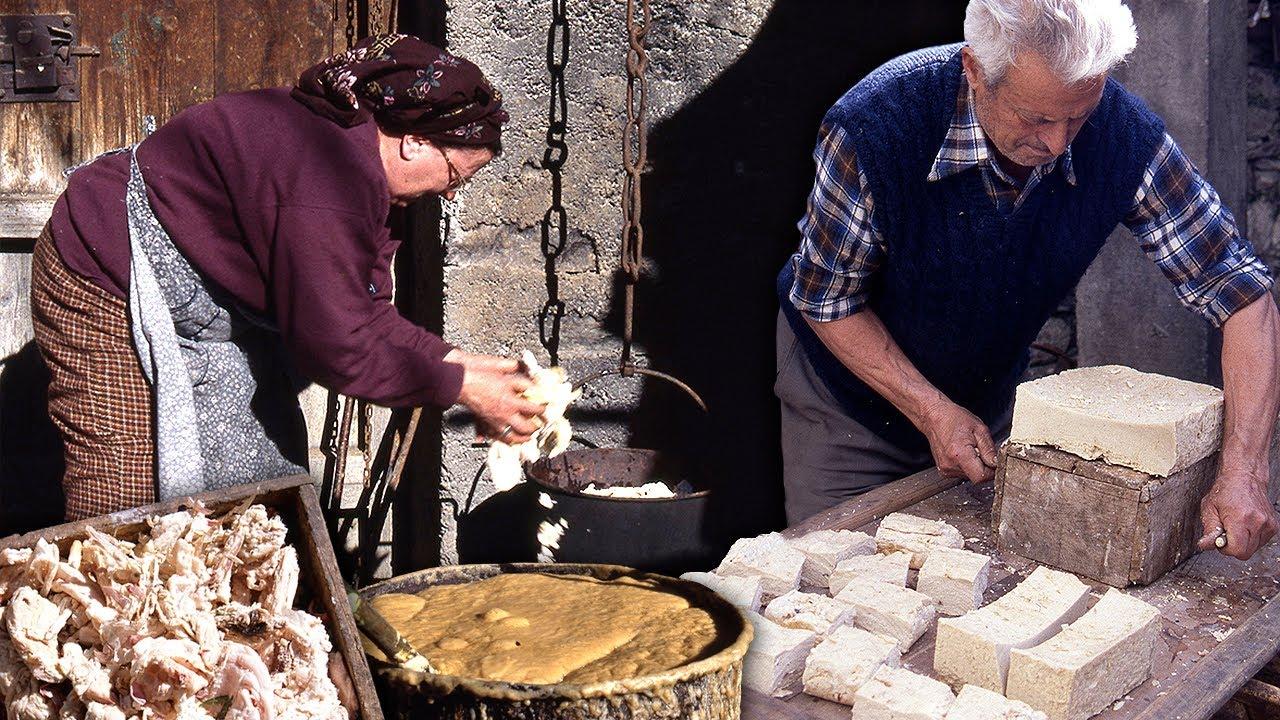 El jabón artesanal de sosa en el Pirineo. Elaboración tradicional | Oficios Perdidos | Documental