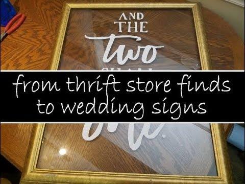 DIY BUDGET WEDDING SIGNS
