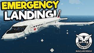 Emergency Plane Landing in the Arctic! - Stormworks Gameplay - Plane Crash Survival