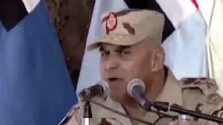صدقى صبحى يصرخ ويهدد المصريين: الجيش كله مع السيسى