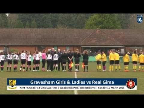 Kent FA U14s Girls Cup Final | Real Gima vs Gravesham Girls