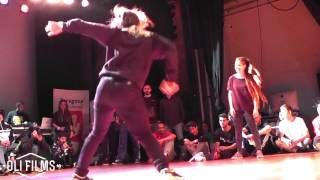 Clara vs Queen Alba Bgirl Battle for the cap Versus Zaragoza 2015 | OLIFILMS