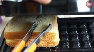 미친거 아냐!! 와플기로 토스트를 만들어 ~
