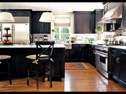 black kitchen cabinet ideas color with appliances images design