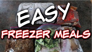 FIVE EASY FREEZER MEALS | Feeding a Family of 6 on $200 a Month