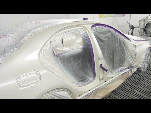 Mercedes C250 Spray Painting