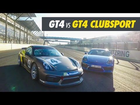 Porsche Cayman GT4 vs GT4 Clubsport - Track Test Drive