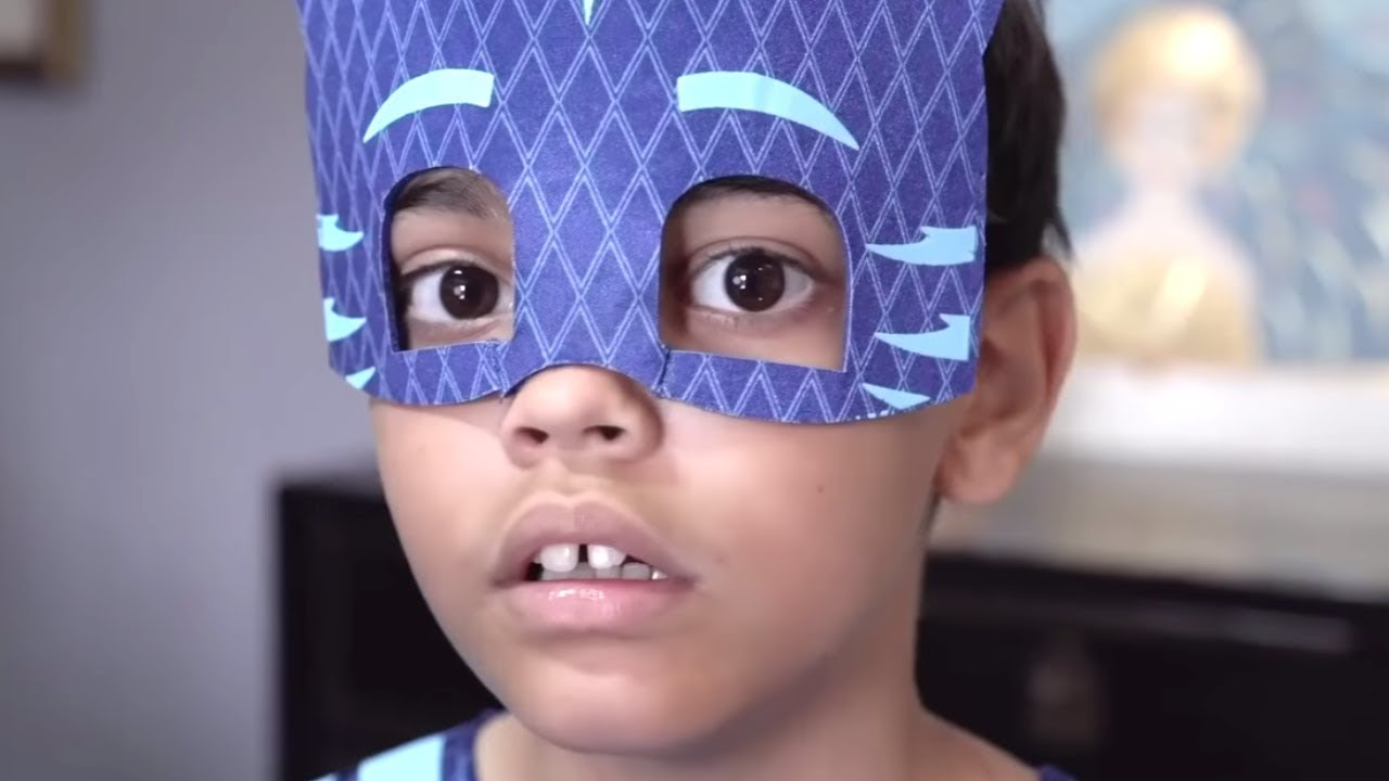 PJ Masks in Real Life: GIANT Catboy vs Tiny Toys Gekko and Owlette! ⚡️ Halloween PJ Masks