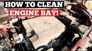 How To CLEAN & DETAIL Engine Bay - Auto Detailing Training Series (Engine Cleaning)