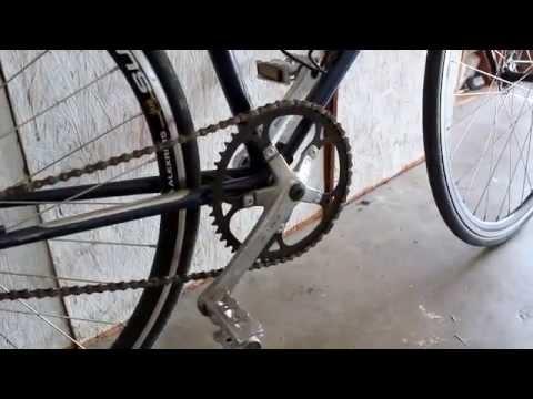 fuji palisade road bike conversion to single speed youtube. Black Bedroom Furniture Sets. Home Design Ideas