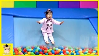 Indoor Playground Learn Colors Fun for Kids Family Play Slide Rainbow Ball Colors | MariAndKids Toys