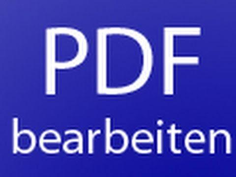 Pdf Datei Bearbeiten Kostenlos