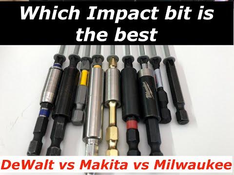 Best Impact driver bits | Part 1 | Let's find out | Dewalt vs Makita vs Milwaukee | 2019