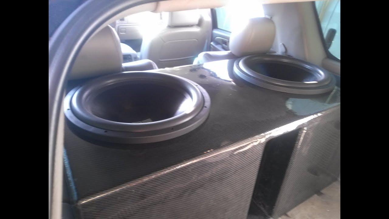Custom Carbon Fiber Subwoofer Box For Two RE Audio SX 18s ...