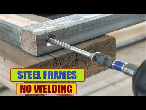 Steel Frame with No Welding !! (DIY Project)