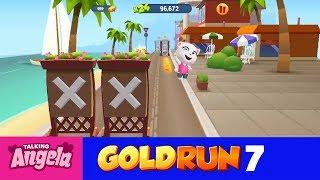 My Talking Angela Gold Run NEW UPDATE Play for Children Full Episode #7