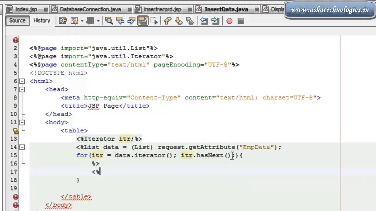 J2EE Tutorial For Beginners Insert Update Edit And Delete Database Record  In JSP Servlet With MySQ