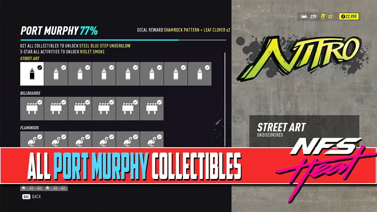 Need For Speed Heat All Collectibles Locations Port Murphy Youtube
