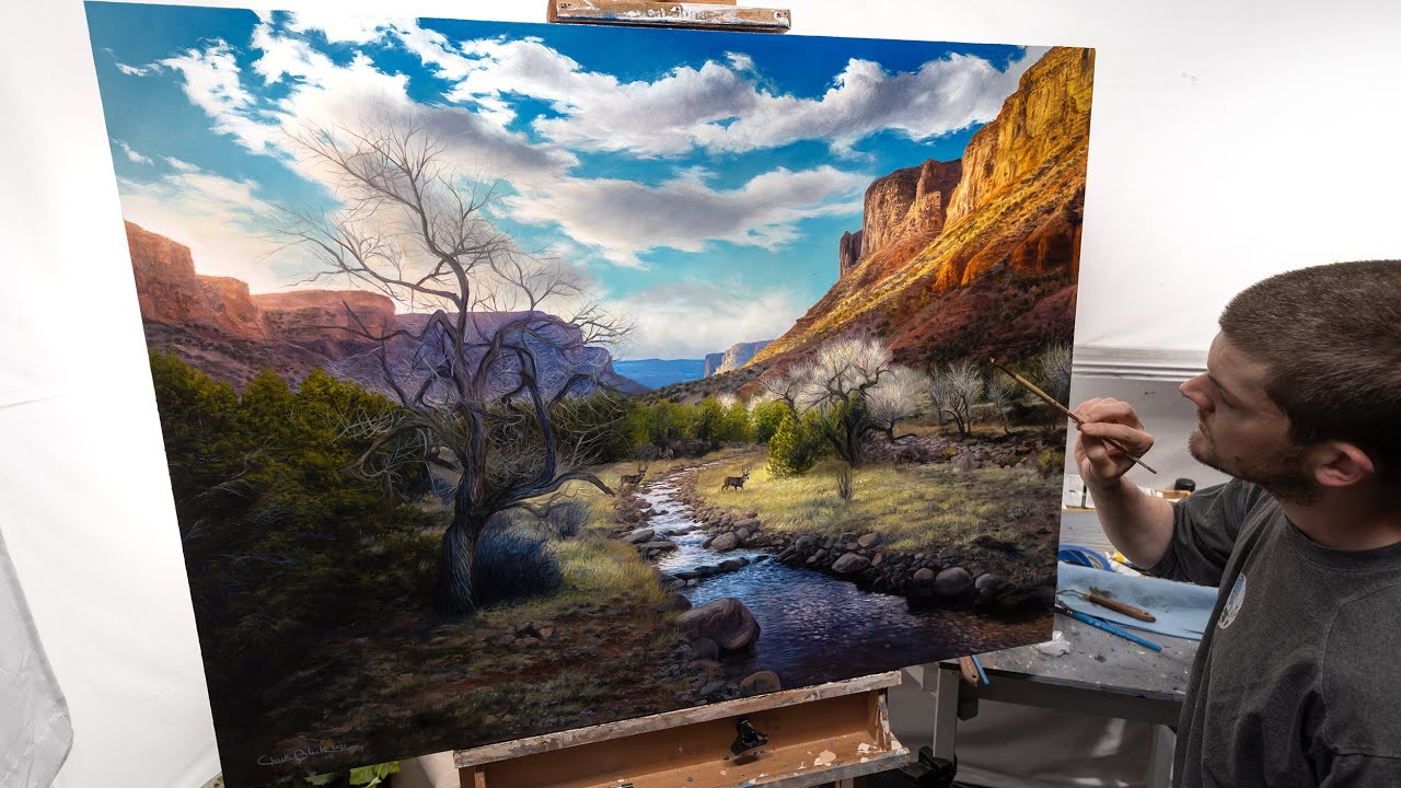 """OIL PAINTING TIME-LAPSE   """"Beneath The Glory"""""""