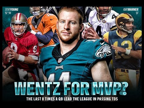 CARSON WENTZ VS DAK PRESCOTT...Numbers Don't Tell Everything, MVP Pace Continues For Carson Wentz