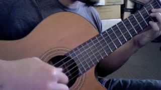 【東方】Fall of Fall on Acoustic Guitar