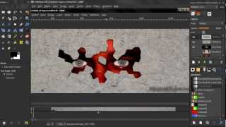 Creepy guy behind the wall 1 - GIMP Tutorial