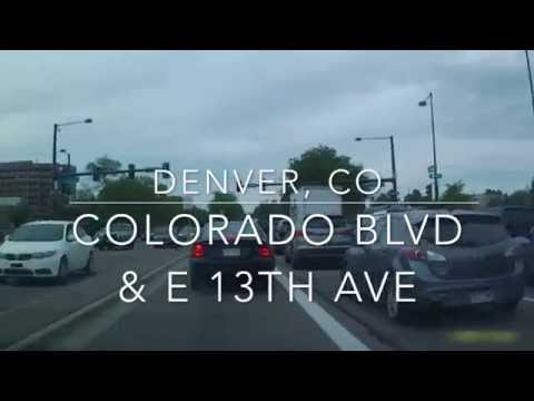 Driving in Colorado (Glendale/Denver) - Glendale Post Office to Golden Triangle, Denver by Car