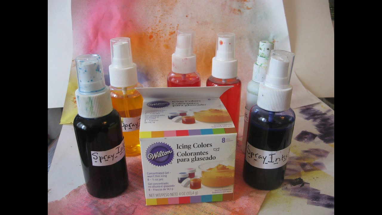How to make DIY Homemade Spray inkswith Wilton Gel Food Coloring
