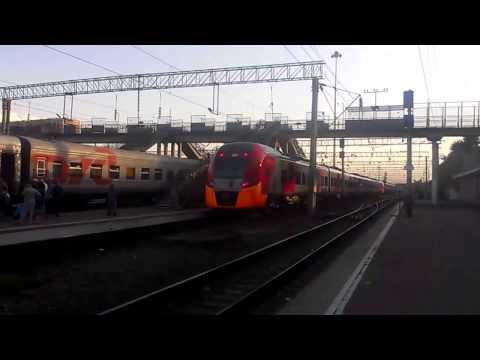 """Отправление поезда 801С """"Ласточка"""" Краснодар-1 - Адлер 05.08.2016"""