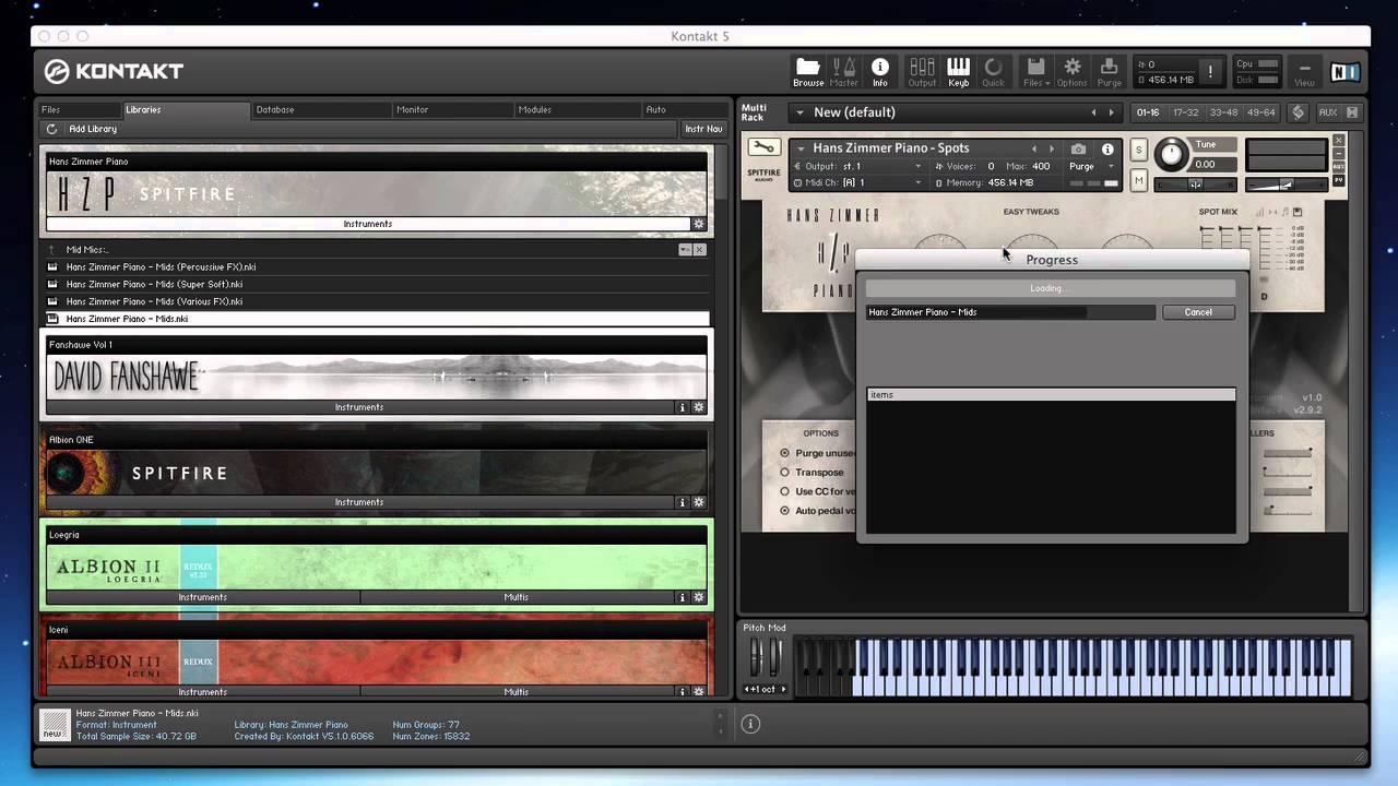 Spitfire Walkthrough - Hans Zimmer Piano - YouTube