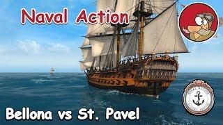 Naval Action Gameplay - Battles - Bellona vs St. Pavel - Jan 2019