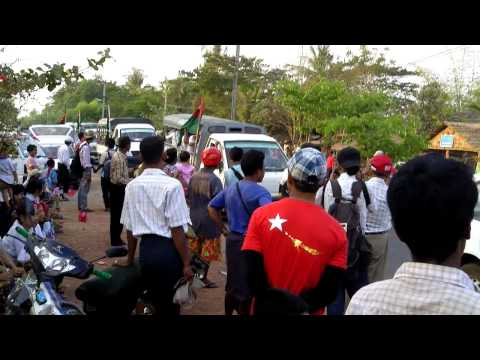 Union Solidarity and Development Party campaign near Kawmhu