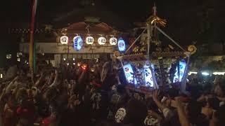 平成30年 座間市入谷<鈴鹿明神社>例大祭 本社神輿・宮入=社殿・還御