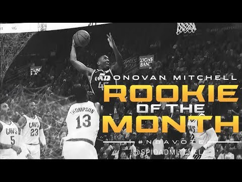 Donovan Mitchell Rookie of the Month - December 2017
