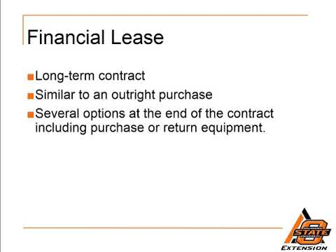 Operating Lease vs.  Financial Lease
